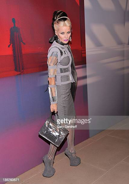 Daphne Guinness attends the Valentino Garavani Virtual Museum Launch party at the IAC Headquarters on December 7, 2011 in New York City.