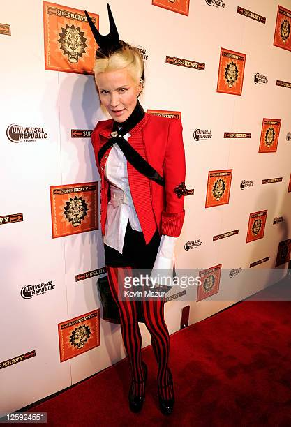 Daphne Guinness celebrates the release of the new CD 'SuperHeavy' at The Double Seven on September 21 2011 in New York City