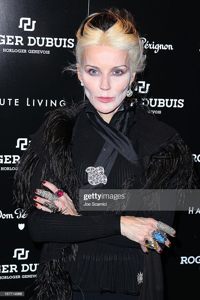Daphne Guinness hosts the Haute Living and Roger Dubuis dinner at Azur on December 5, 2012 in Miami Beach, Florida.