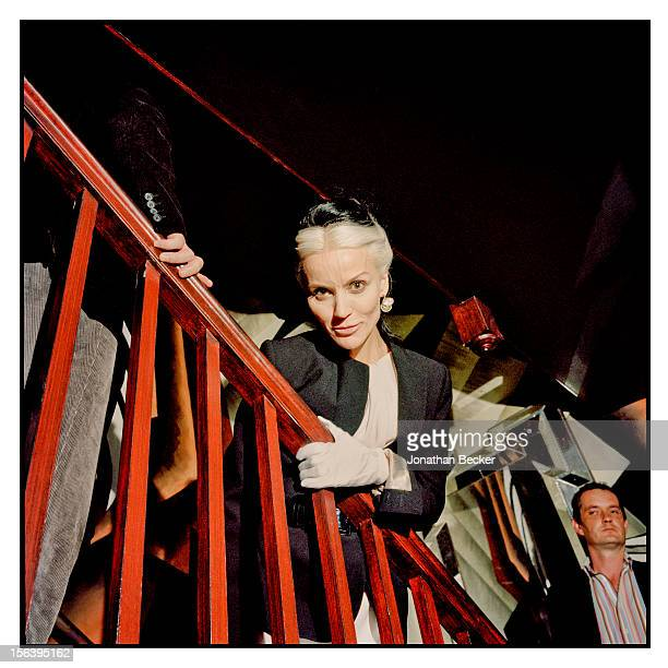 Daphne Guinness is photographed at 5 Hertford Street which is home to the nightclub Loulou's for Vanity Fair Magazine on June 11 2012 in London...