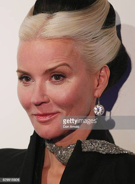 Daphne Guinness looks on as media are addressed during the launch of Daphne Isabella Blow A Fashionable Life at Powerhouse Museum on May 10 2016 in...