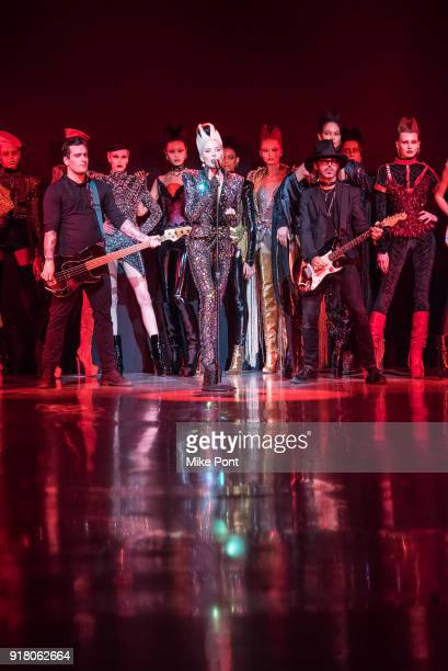 Daphne Guinness performs at The Blonds fashion show during New York Fashion Week The Shows at Spring Studios on February 13 2018 in New York City