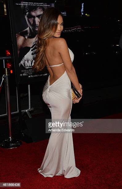 Daphne Joy arrives at the Los Angeles premiere of 'Manny' at the TCL Chinese Theatre on January 20 2015 in Hollywood California