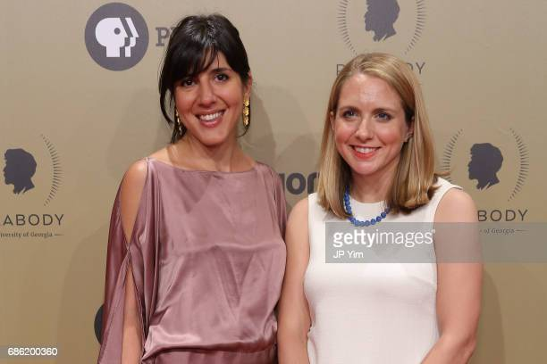 Daphne Matziaraki and Lindsay Crouse attend The 76th Annual Peabody Awards Ceremony at Cipriani Wall Street on May 20 2017 in New York City
