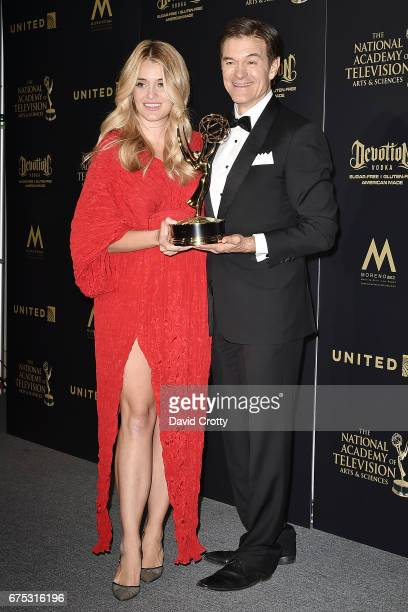Daphne Oz and Dr Mehmet Oz attend the 44th Annual Daytime Emmy Awards Press Room at Pasadena Civic Auditorium on April 30 2017 in Pasadena California
