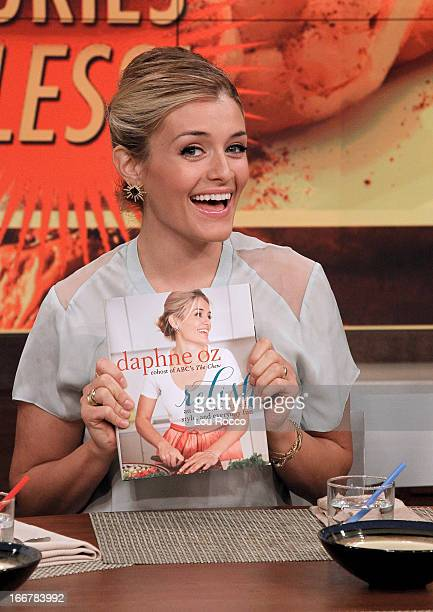 THE CHEW Daphne Oz previews her new book Relish today April 16 2013 on The Chew The Chew airs MONDAY FRIDAY on the Walt Disney Television via Getty...