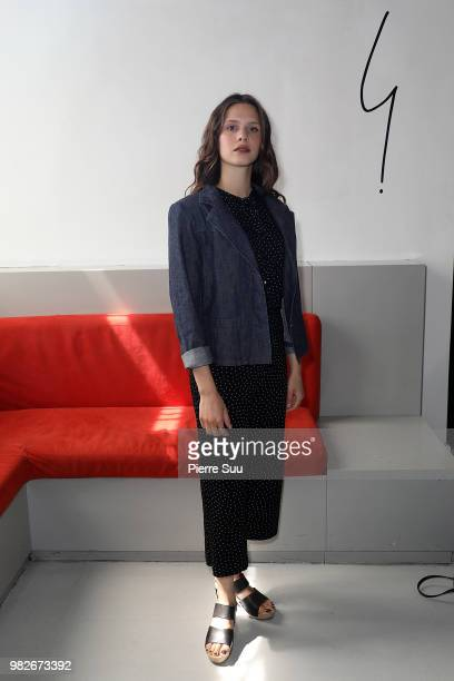 Daphne Patakia attends the Agnes B Menswear Spring/Summer 2019 show as part of Paris Fashion Week on June 24 2018 in Paris France