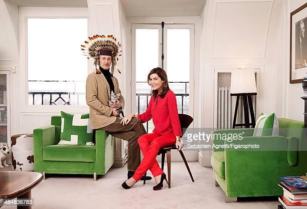 107545002 Daphne Roulier et Antoine de Caunes are photographed for Madame Figaro on September 3 2013 in Paris France PUBLISHED IMAGE CREDIT MUST READ...