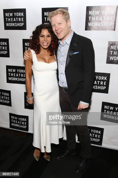 Daphne Rubin Vega and Anthony Rapp attend New York Theatre Workshop's 2017 Spring Gala at the Edison Ballroom on May 15 2017 in New York City