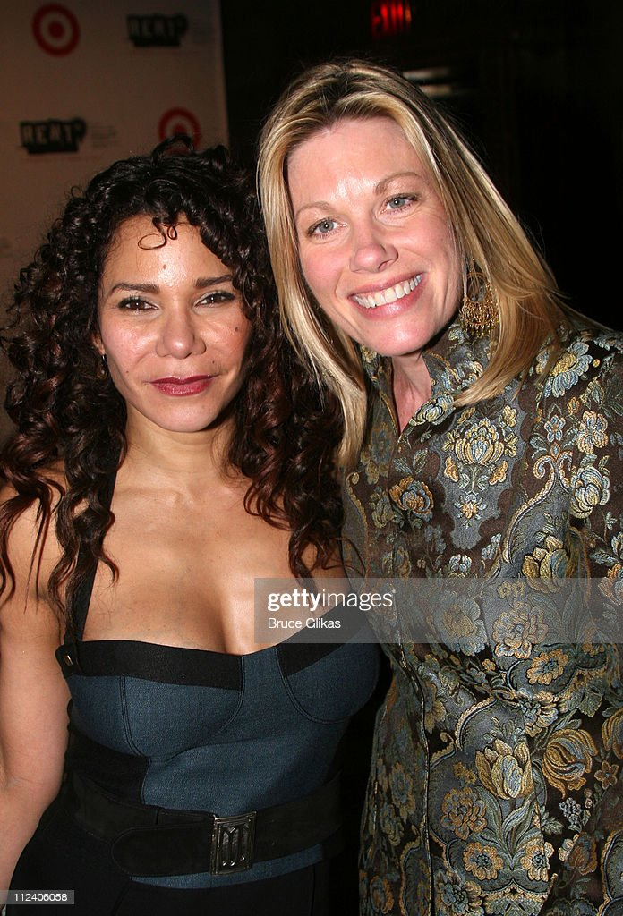 Daphne Rubin Vega and Marin Mazzie during 'Rent' Celebrates 10th Anniversary on Broadway - April 24, 2006 at The Nederlander Theater in New York, New York, United States.