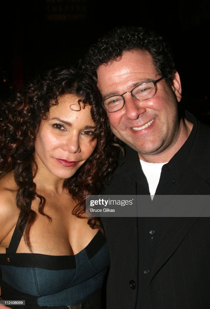 Daphne Rubin Vega and Michael Greif during 'Rent' Celebrates 10th Anniversary on Broadway - April 24, 2006 at The Nederlander Theater in New York, New York, United States.