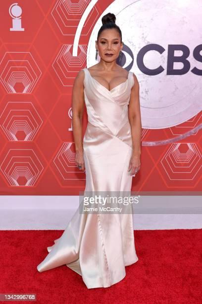 Daphne Rubin-Vega attends the 74th Annual Tony Awards at Winter Garden Theater on September 26, 2021 in New York City.