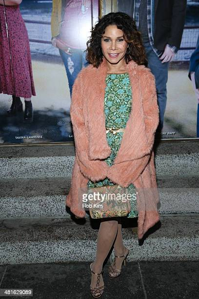 Daphne RubinVega attends the 'If/Then' Broadway Opening Night arrivals at Richard Rodgers Theatre on March 30 2014 in New York City