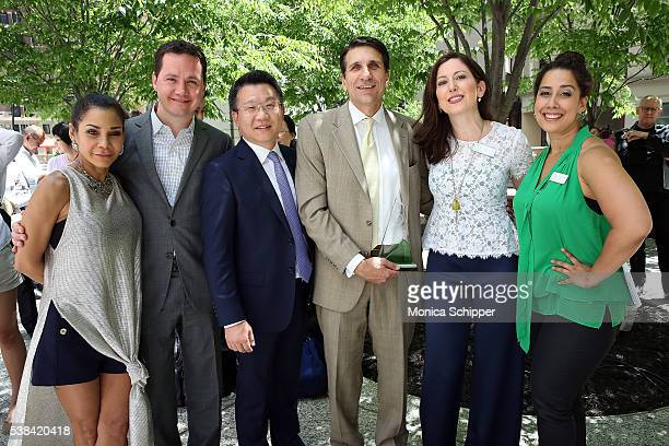 Daphne RubinVega Erik Horvat Wei Bo Tom Costanzo Camille Zamora and Monica Yunus attend The 2016 Sing For Hope Pianos launch event on June 6 2016 in...
