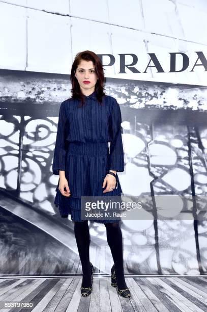 Daphne Scoccia attends the cocktail reception to present Prada Resort 2018 collection on December 14th 2017 in Prada's Via dei Condotti stores Rome