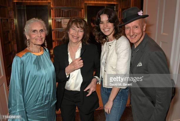 Daphne Self Jane Birkin Gala Gordon and Stephen Jones attend the Belmond Cadogan Hotel Summer Salon and Grand Opening supported by London Perfumer...