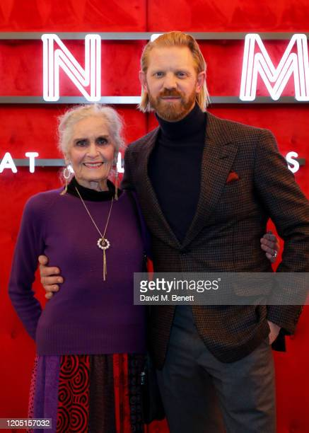 """Daphne Selfe and Alistair Guy attend a special screening of """"Love Thee"""", a short film by Alistair Guy, at The Cinema at Selfridges on March 4, 2020..."""