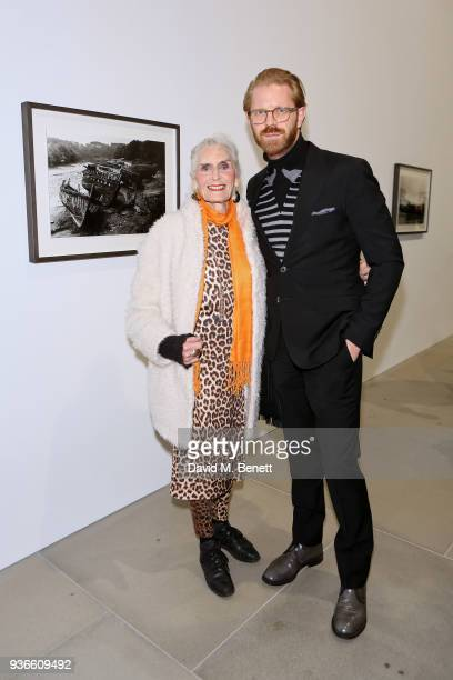 Daphne Selfe and Alistair Guy attend the private view of Wim Wenders ÔEarly Works 19641984Õ at Blain|Southern on March 22 2018 in London United...