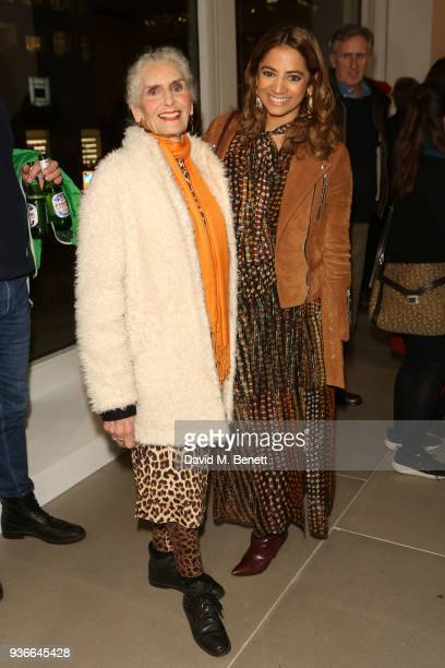 Daphne Selfe and Katy Wickremesinghe attend the private view of Wim Wenders ÔEarly Works 19641984Õ at Blain|Southern on March 22 2018 in London...