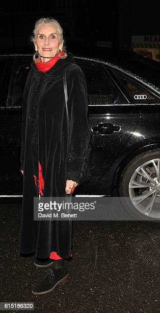 Daphne Selfe arrives in an Audi at the RED Women of the Year Awards at Skylon on October 17 2016 in London England