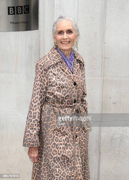 Daphne Selfe at The BBC on July 15 2015 in London England