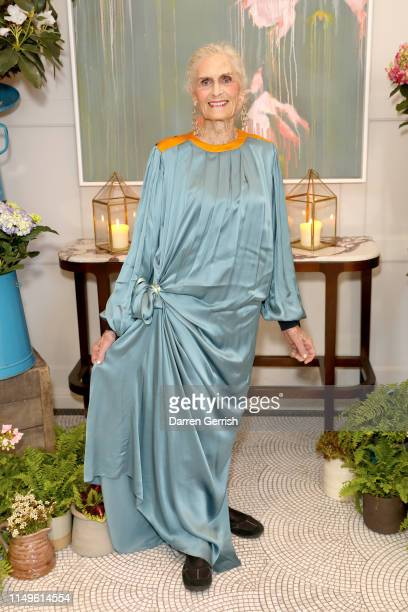 Daphne Selfe attends the Grand Opening of the Belmond Cadogan Hotel Summer Salon Series, presented by London Perfumer Miller Harris on May 16, 2019...