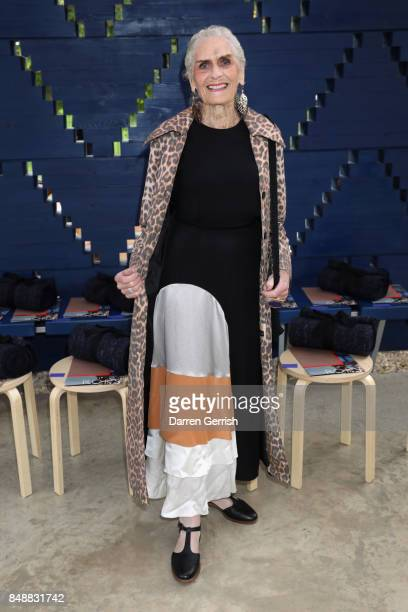 Daphne Selfe attends the Roksanda show during London Fashion Week September 2017 on September 18 2017 in London England