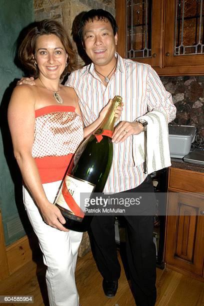 Daphne Shirley and Ming Tsai attend Maison Cordon Rouge House / Champagne Mumm / Sushi Soiree hosted by Sissy Biggers Ming Tsai at Maison Cordon...