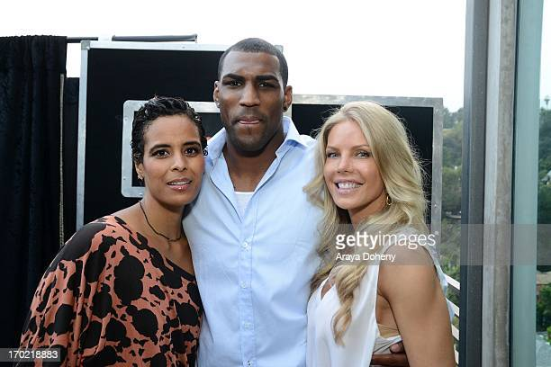 Daphne Wayans and Jessica Canseco attend a fundraiser benefiting Mercy For Animals at Private Residence on June 8 2013 in Los Angeles California