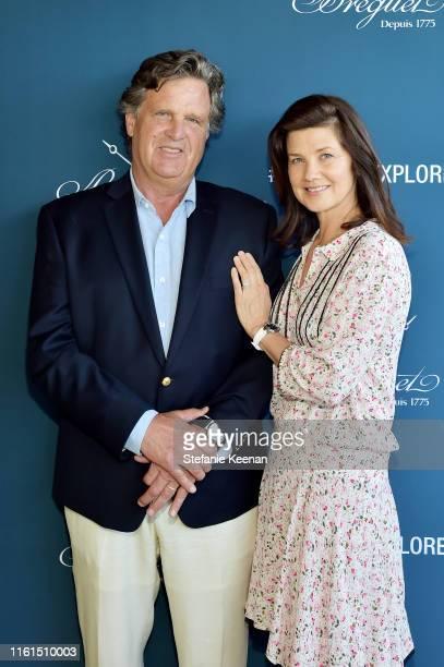 Daphne Zuniga and David Mleczko attend Breguet Marine Collection Launch at Little Beach House Malibu on July 11 2019 in Malibu California
