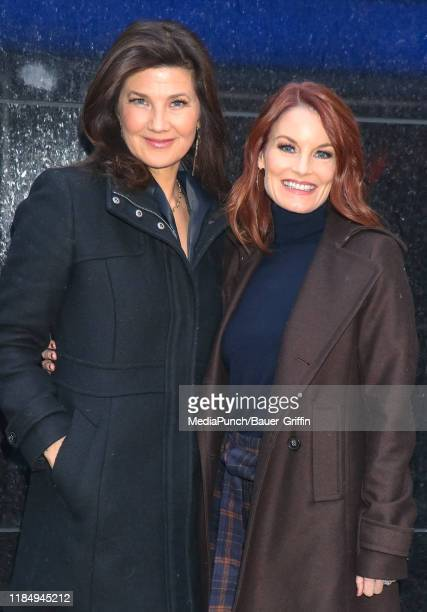 Daphne Zuniga and Laura Leighton are seen on November 26 2019 in New York City