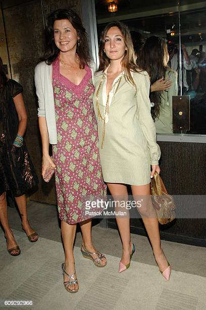 Daphne Zuniga and Nicole Romano attend THE CINEMA SOCIETY andDIOR BEAUTY after party for INTERVIEW at Soho Grand Hotel on July 11 2007 in New York...