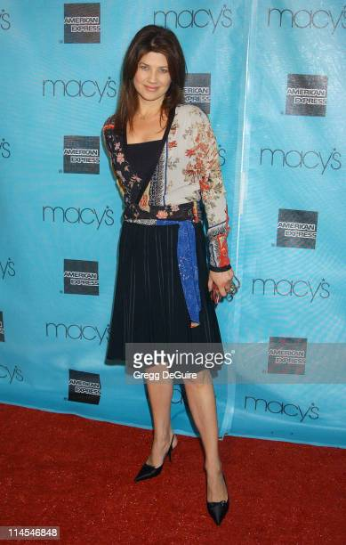 Daphne Zuniga during 2003 Macy's and American Express Passport Gala Show at Barker Hanger in Santa Monica California United States