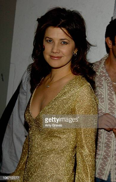 Daphne Zuniga during 2003 Smashbox Fashion Week Los Angeles Jennifer Nicholson Spring Collection 2004 Backstage at Smashbox in Culver City California...