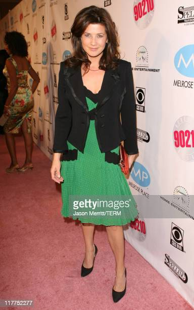 Daphne Zuniga during Beverly Hills 90210 and Melrose Place DVD Launch Party Pink Carpet at Beverly Hilton in Beverly Hills California United States