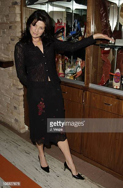 Daphne Zuniga during Los Angeles Fashion Week Frederick's of Hollywood Fall 2002 Collection at Star Shoes in Los Angeles California United States