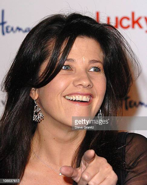 Daphne Zuniga during Lucky Magazine Hosts Miss Davenporte Trunk Show at Ron Herman Arrivals at Ron Herman in Los Angeles California United States
