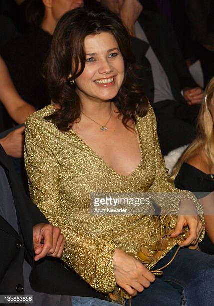Daphne Zuniga during Smashbox LA Fashion Week Spring 2004 Jennifer Nicholson Show Front Row at Smashbox Studios in Culver City California United...