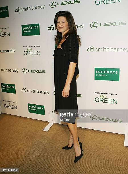 Daphne Zuniga during Sundance Channel Celebrates the Launch of The Green Arrivals at Former LaBrea Chrysler Jeep in Los Angeles California United...