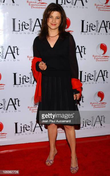 Daphne Zuniga during The First Annual Red Party To Benefit The Life Through Art Foundation at Private residence in Holmby Hills California United...