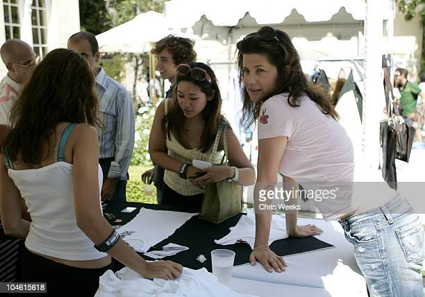 Daphne Zuniga during W Magazine Hollywood Yard Sale at Private Home in Los Angeles California United States