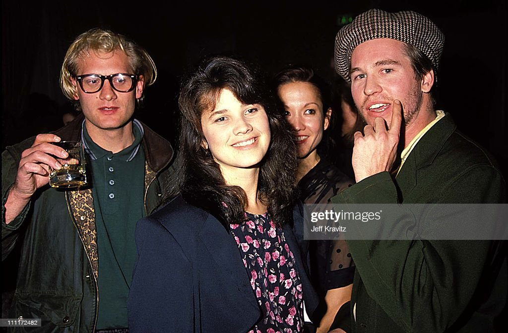 Daphne Zuniga & Val Kilmer during 1988 Young Artists Unite in Los Angeles, California, United States.