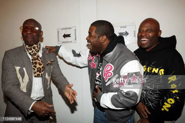 Dapper Dan A$AP Ferg and Phade backstage at Stoop Talks with A$AP Rocky Dapper Dan at Terminal 5 on February 12 2019 in New York City