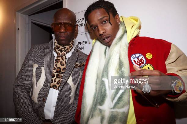 Dapper Dan and A$AP Rocky backstage at Stoop Talks with A$AP Rocky Dapper Dan at Terminal 5 on February 12 2019 in New York City