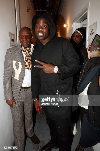 Dapper Dan and Casanova backstage at Stoop Talks with A$AP Rocky Dapper Dan at Terminal 5 on February 12 2019 in New York City
