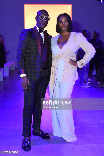 Dapper Dan and Claire Sulmers attend Aliette fashion show during New York Fashion Week The Shows at Gallery II at Spring Studios on September 11 2019...