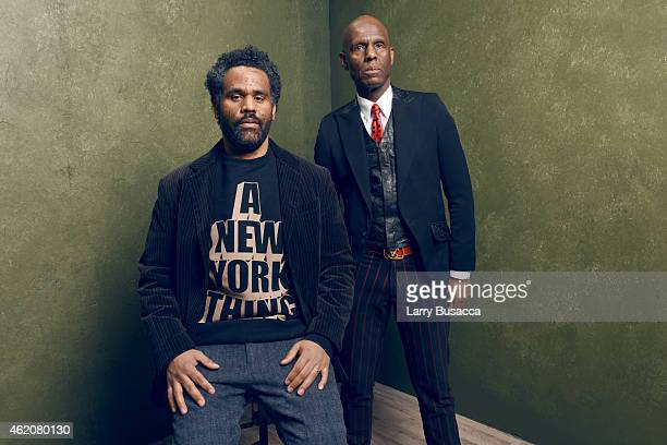 """Dapper Dan and filmmaker Sacha Jenkins from """"Fresh Dressed"""" pose for a portrait at the Village at the Lift Presented by McDonald's McCafe during the..."""