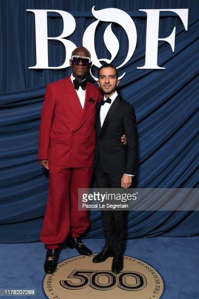 Dapper Dan and Imran Amed attend the #BoF500 gala during Paris Fashion Week Spring/Summer 2020 at Hotel de Ville on September 30, 2019 in Paris,...