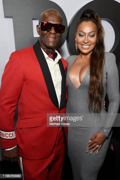 """Dapper Dan and La La Anthony at STARZ Madison Square Garden """"Power"""" Season 6 Red Carpet Premiere, Concert, and Party on August 20, 2019 in New York..."""