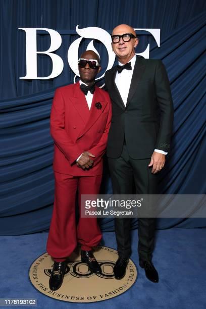 Dapper Dan and Marco Bizzarri attend the #BoF500 gala during Paris Fashion Week Spring/Summer 2020 at Hotel de Ville on September 30, 2019 in Paris,...